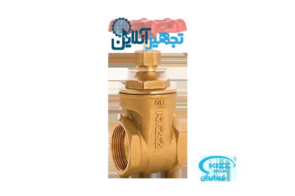 شیر فلکه برنجی کشویی کیز ایران سایز 2,1/2