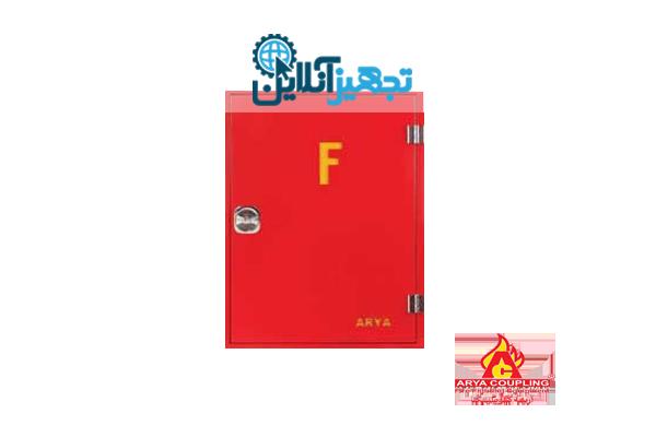 جعبه روکار (بدون قرقره-باقفل و لولا کروم)سایز 17*60*50 رنگ قرمز آریا کوپلینگ