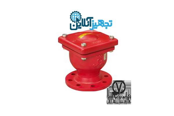 شیر هوا تک روزنه بزرگ چدنی PN16 سایز 2 اینچ وگ ایران بی همتا